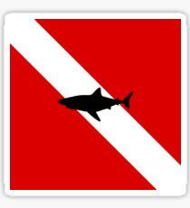 Diving Flag Shark Sticker