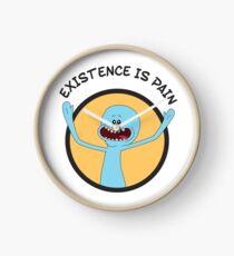 Mr. Meeseeks Existence Is Pain (Orange) Clock