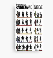 Rainbow Six Operators Metal Print