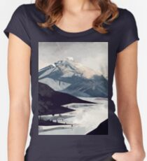 Calming Mountain Women's Fitted Scoop T-Shirt