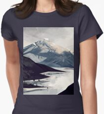 Calming Mountain Womens Fitted T-Shirt
