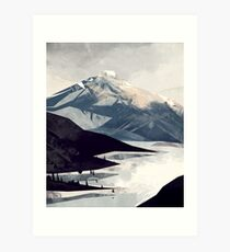 Calming Mountain Art Print