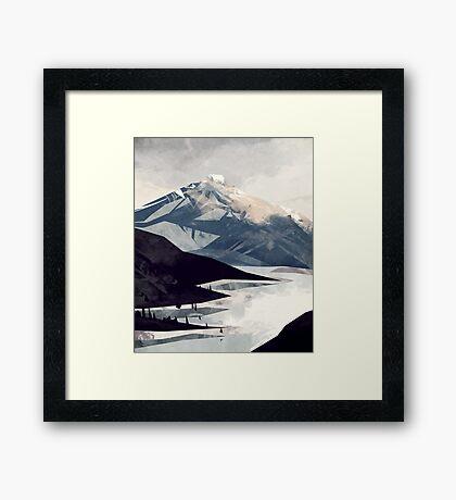Calming Mountain Framed Print