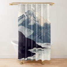 Calming Mountain Shower Curtain