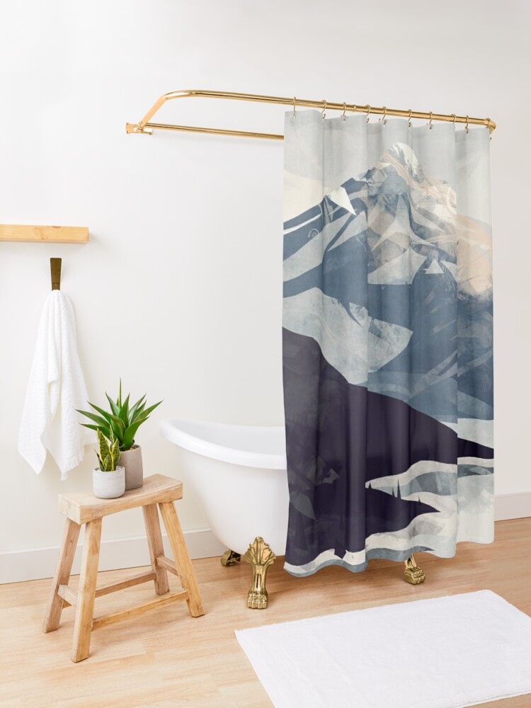 Alternate view of Calming Mountain Shower Curtain