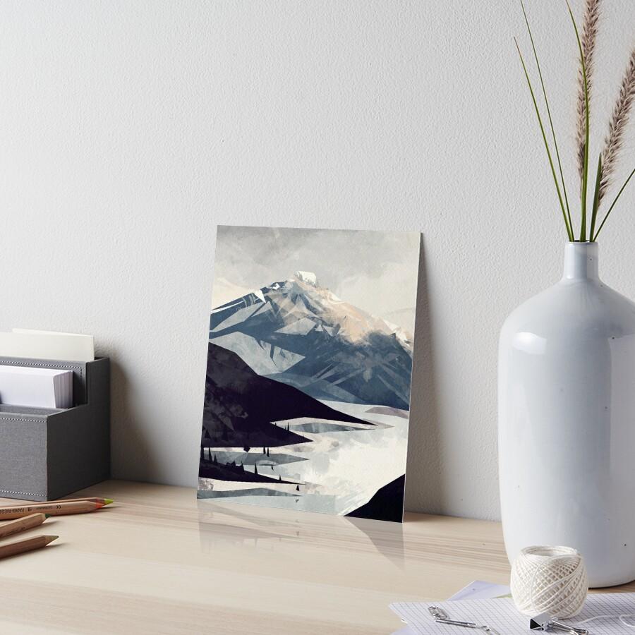 Beruhigender Berg Galeriedruck