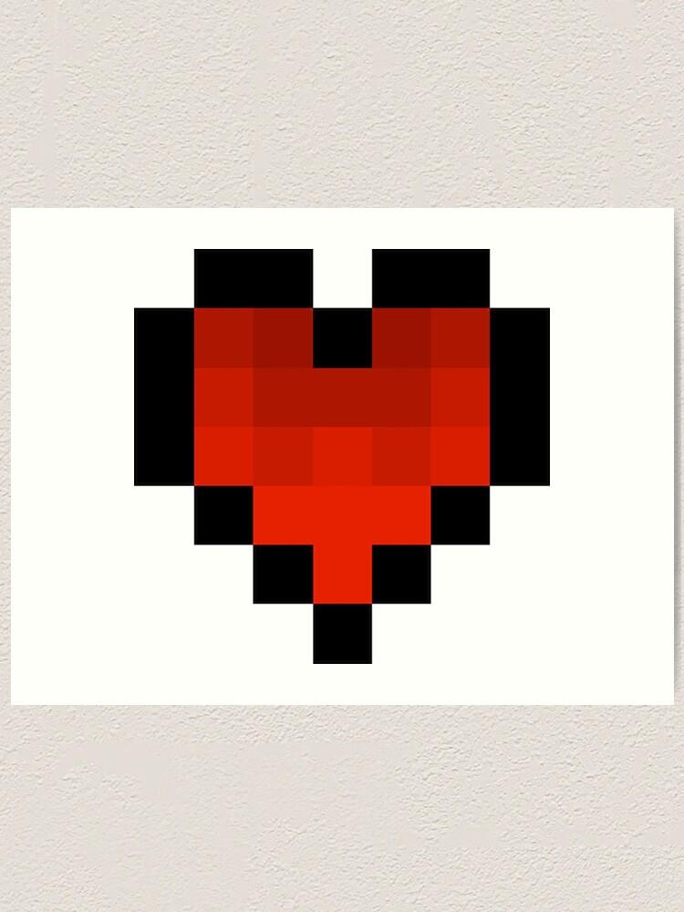 Impression Artistique Coeur Pixel Art Par Kordesigns Redbubble