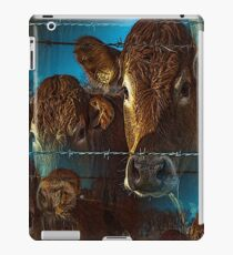 Lost in space brown cows iPad Case/Skin