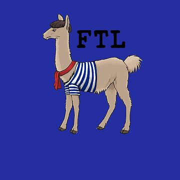 French the Llama by designpickles