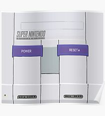 Snes Console Poster
