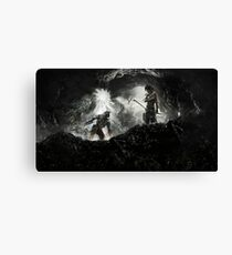 Lara Croft and Master Chief mash up Canvas Print