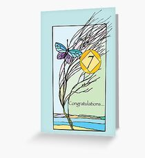 7th Year NA Recovery Anniversary Each Day Butterfly    Greeting Card
