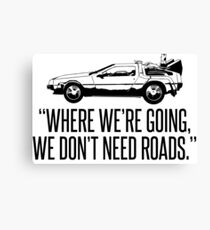 Back to the Future Movie Canvas Print