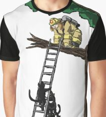 Fireman Rescue Graphic T-Shirt