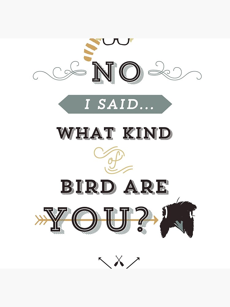 No, I said what kind of bird are YOU? by swashandfold