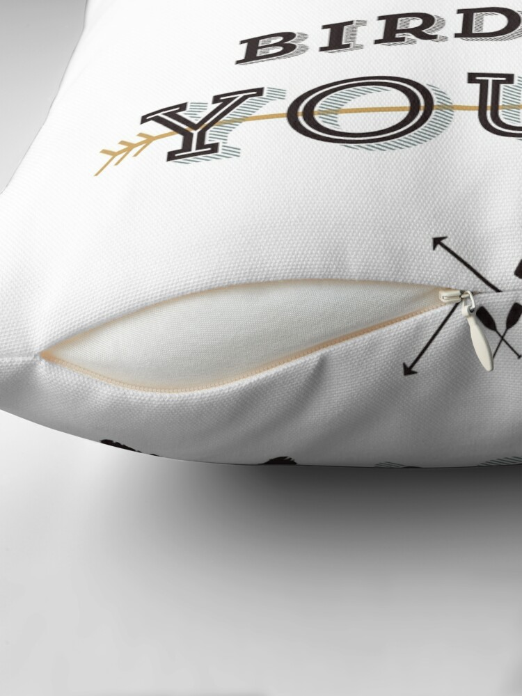 Alternate view of No, I said what kind of bird are YOU? Throw Pillow
