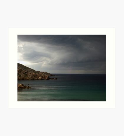 Storm approaching from over the sea Art Print