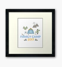 Family Camping Holiday Memories 2017 - Start a Trend! Framed Print