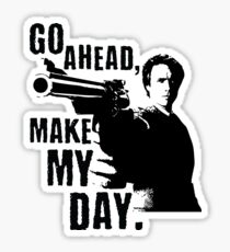 Sudden Impact - Go Ahead, Make My Day Sticker