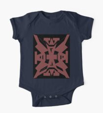 Red brick Adesign on black Kids Clothes
