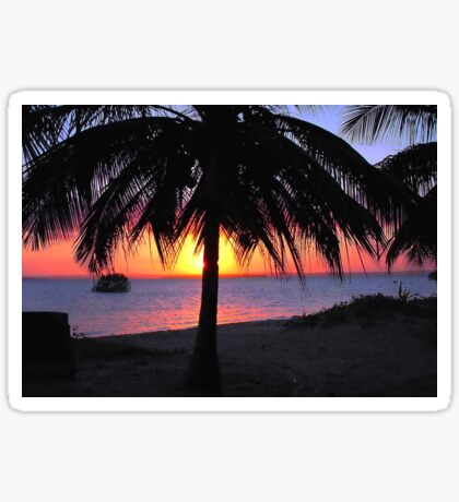 SILHOUETTE SUNSET - Mozambique Sticker