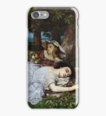 Gustave Courbet - Girls On The Banks Of The Seine iPhone Case/Skin
