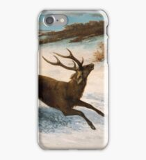 Gustave Courbet - Deer Running In The Snow C.1856 - C.1857 iPhone Case/Skin