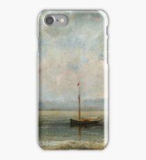 Gustave Courbet - Clouds Over Lake Geneva iPhone Case/Skin