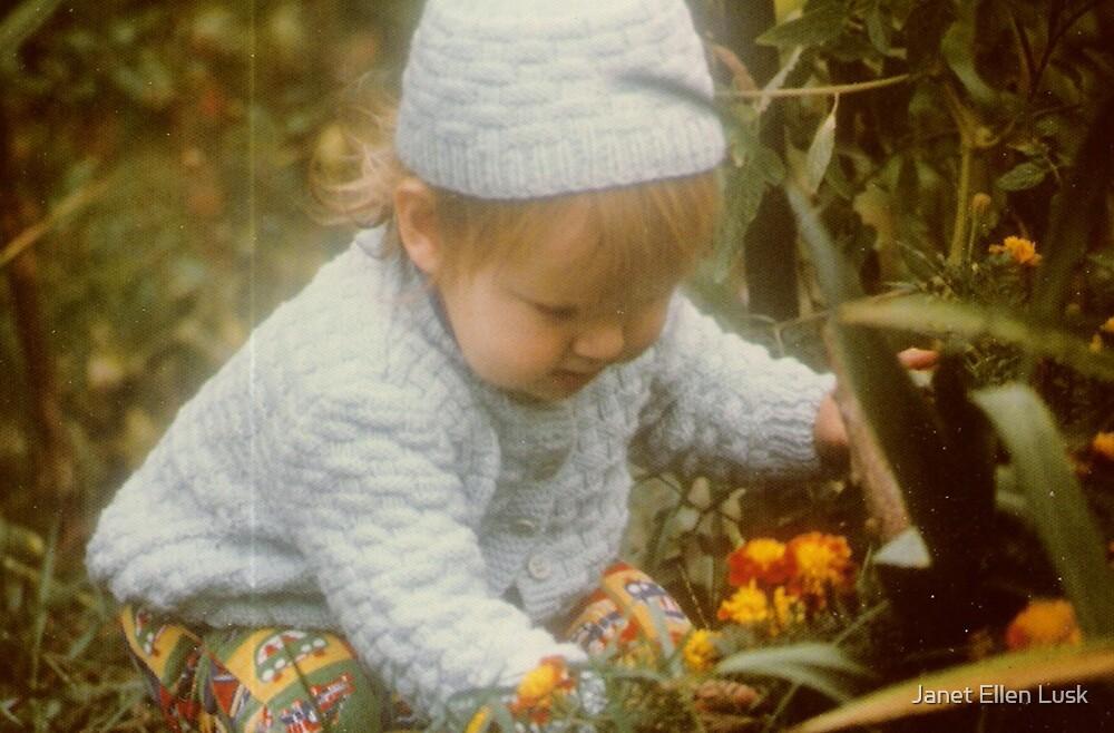 Picking Flowers in the Garden by Janet Ellen Lusk