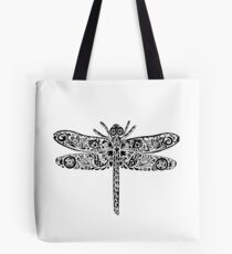 Dragonfly Doodle Tote Bag