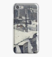 Gustave Caillebotte - Rooftops In The Snow (Snow Effect) 1878 iPhone Case/Skin