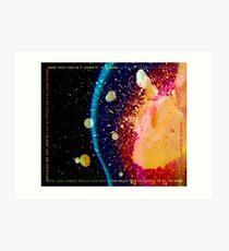 Radiohead - In Rainbows Lyrics Art Print
