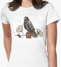 RAVEN AND QUEEN ANNE'S LACE Womens Fitted T-Shirt