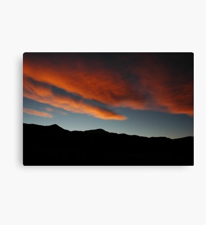 Fire Over The Peak Canvas Print