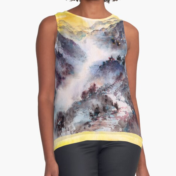 Hike to the Mountain Top Sleeveless Top