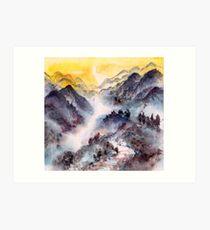 Hike to the Mountain Top Art Print