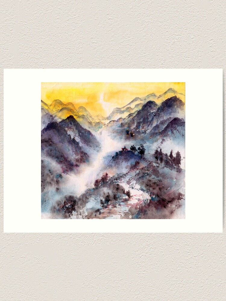 Alternate view of Hike to the Mountain Top Art Print