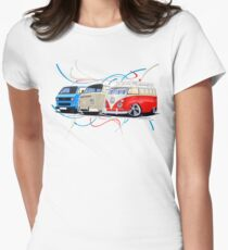 VW Bus Collection Womens Fitted T-Shirt