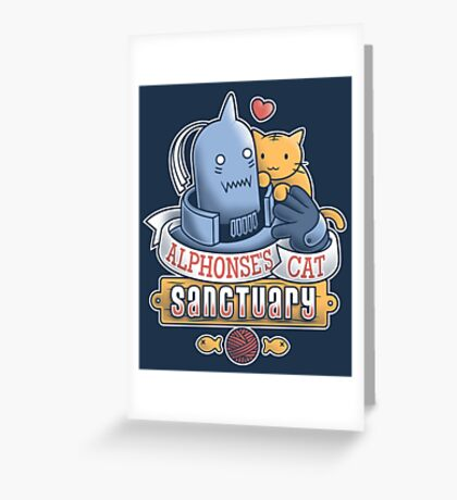 Alphonse's Cat Sanctuary Greeting Card