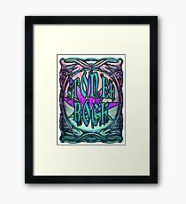 STONER ROCK - icy blue Framed Print