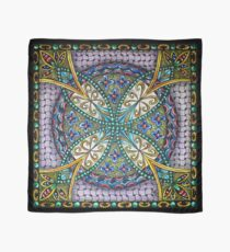 Florentine Medieval Purple and Gold Tile Scarf