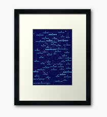 Sci-fi star map Framed Print