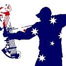 Australian Flag Bow Hunter by Craig Stronner