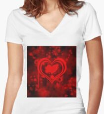 hearty Women's Fitted V-Neck T-Shirt