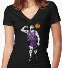 Jason Williams White Chocolate Basketball  Women's Fitted V-Neck T-Shirt