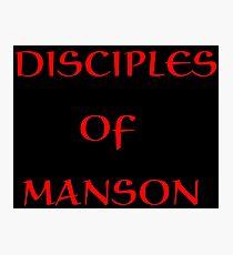 MANSON Photographic Print