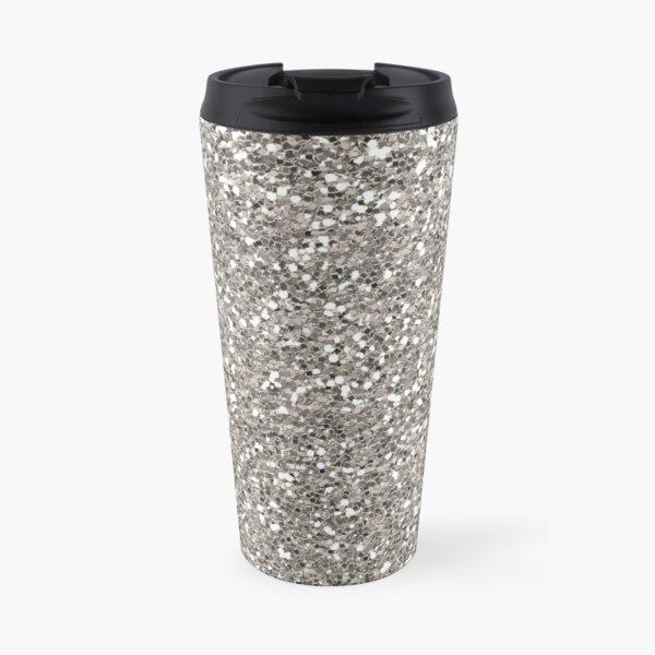 Silver Glitter Travel Mug