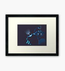 megaman the blue bomber Framed Print