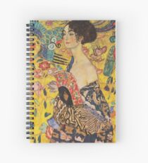 Gustav Klimt - Lady With Fan 1918 Spiral Notebook