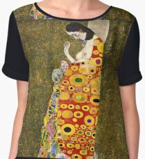 Gustav Klimt - Hope, Ii 1907 - 1908 Women's Chiffon Top